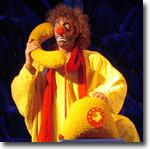 Луговской в роли Желтого Клоуна, знаменитый полунинский