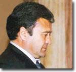 С.Рафиков (крайний слева) вместе с послом России в Узбекистане (посол – крайний справа)