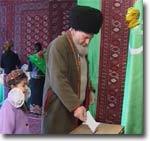 Выборы в Туркмении. Кадр местного телевидения