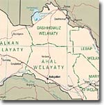 Карта районов Туркмении