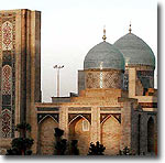 Islam Karimov had the religious center of Tashkent reconstructed (see photo of Hast Imam)