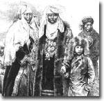 Группа киргизов. 1885 г.
