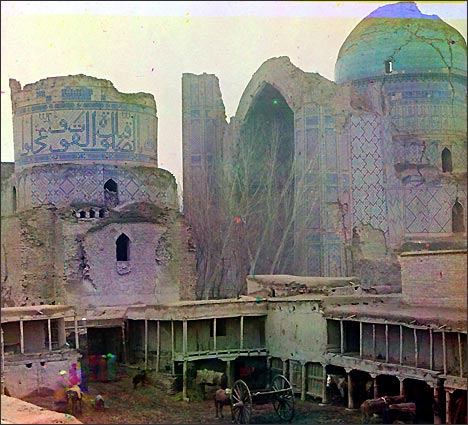 Мечеть Биби-Ханым. Фото С.М.Прокудина-Горского с сайта Самарканд в фотографиях