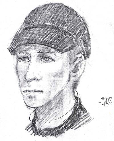 Фоторобот одного из убийц М.Вайля, созданный спустя неделю после убийства