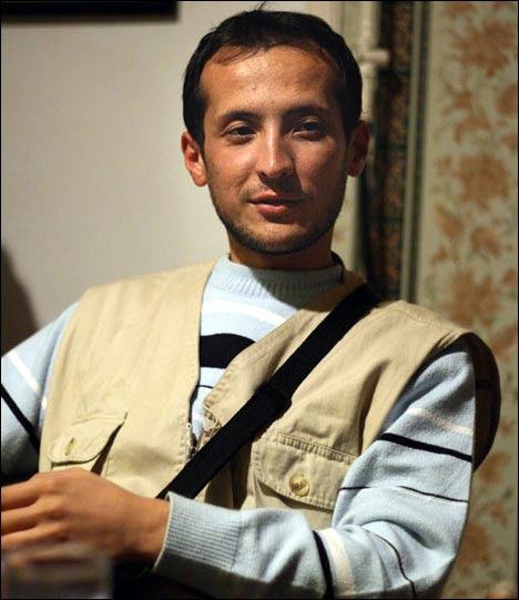 Alisher Saipov, September 2007, Osh. Photo by Ferghana.ru