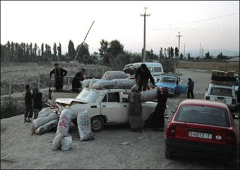Продавцы из Узбекистана привезли овощи на киргизскую территорию