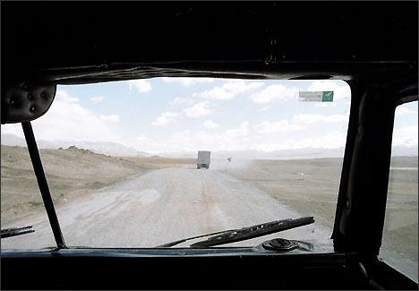 Дорога Кыргызстан - Китай. Фото ИА Фергана.Ру