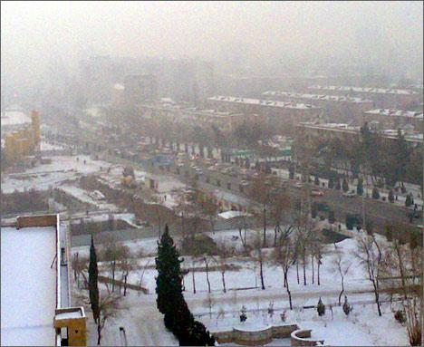 Промерзший Душанбе