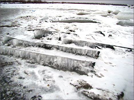 Лед на Амударье. 6 февраля 2008 года