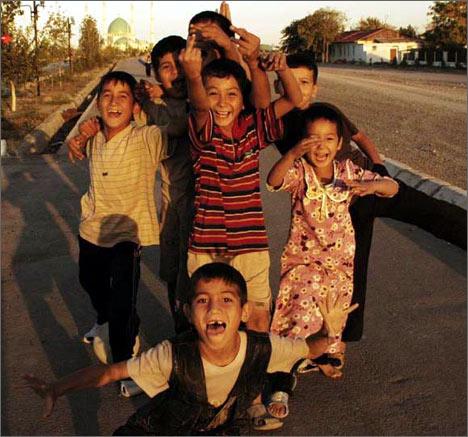 Turkmen teenagers