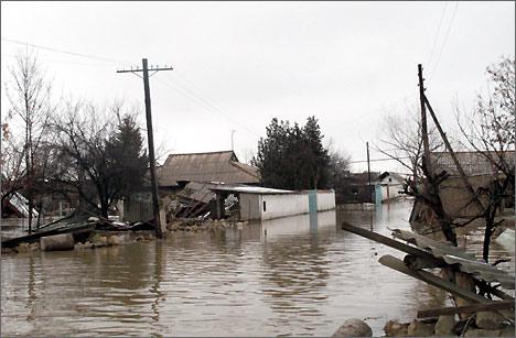 Наводнение на юге Казахстана