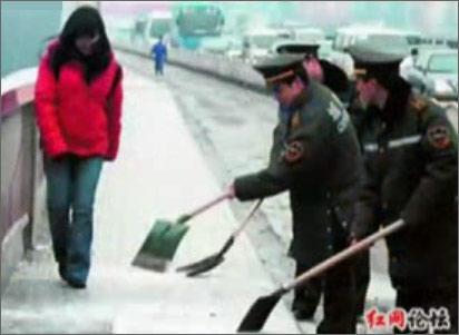 Морозы и снег в Китае