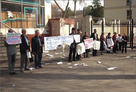 Фото пикета в Ташкенте