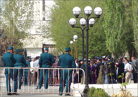 Protest action in Urgench, Uzbekistan