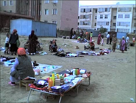 Nukus: flea market near railroad terminal. Photo by Ferghana.Ru