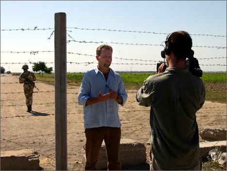 Майкл Андерсен на съемках фильма