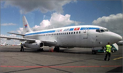 Boeing 737 one month before the air crash. Photo by Ferghana.ru
