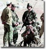 American special military services are training Kyrgyz counterparts