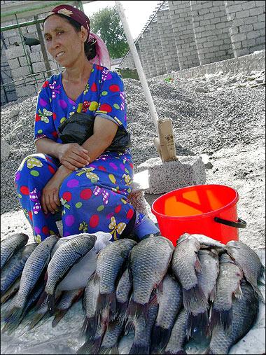 На одном из узбекских рынков