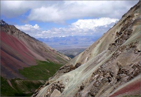 Вид с перевала Путешественников