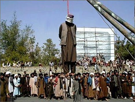 Публичная казнь времен правления талибов