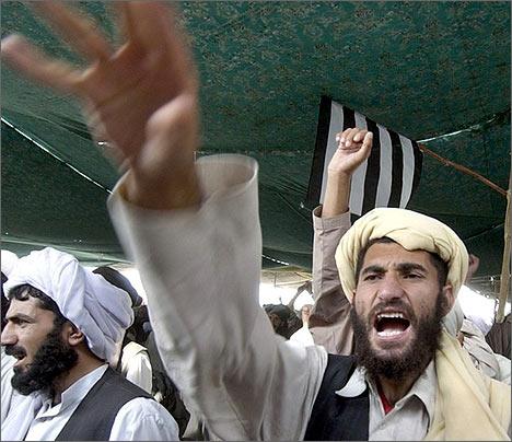 Митинг в поддержку движения Талибан