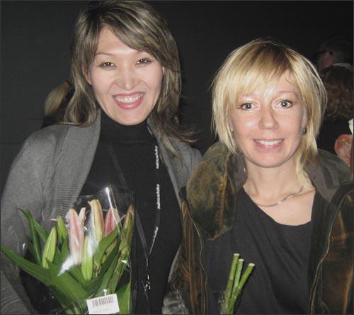 Продюсер из Кыргызстана Жылдыз Бекбаева и шведский журналист Элин Йонссон