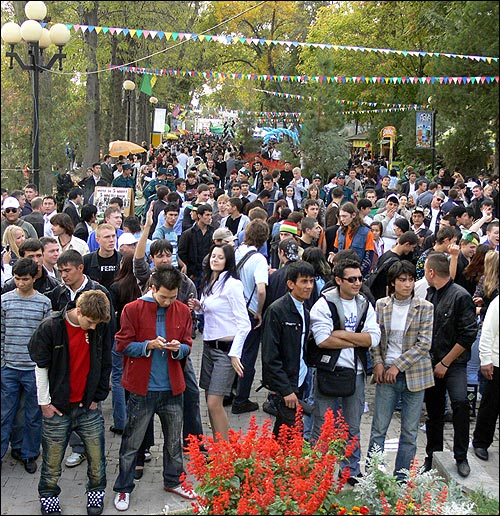 Фестиваль пива в Ташкенте.