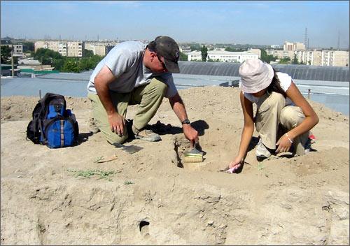 Шымкент, археологи за работой