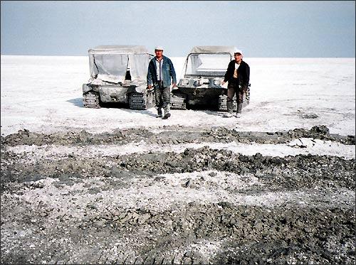 Аральское море. Это не снег, а соль