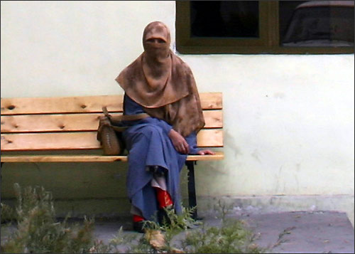 A girl wearing hidjab. Photo by Ferghana.ru