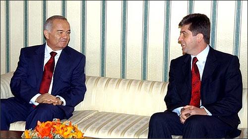 Ислам Каримов и Георгий Пырванов