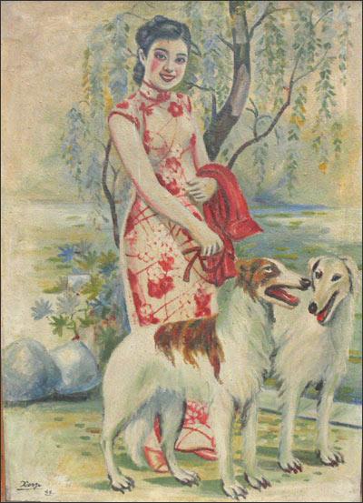 Картина японского художника Хонды