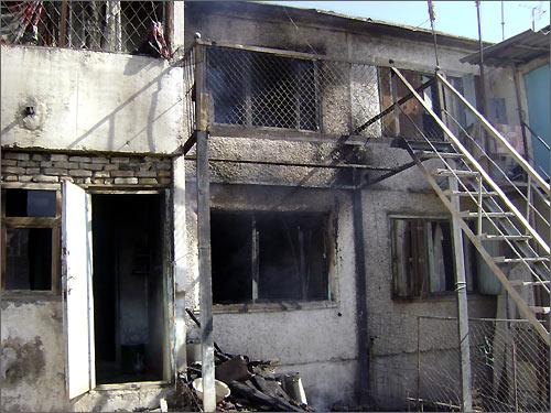 После пожара в Кагане