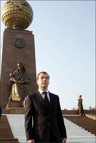 Medvedev in Tashkent. January, 23, 2009