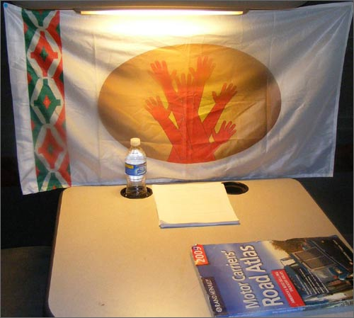 Официальный флаг движения Бирдамлик