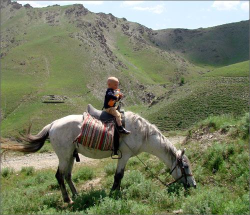 Сын Натальи Бешко на коне