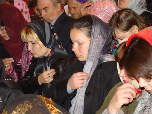 Пасхальная служба в Ургенче