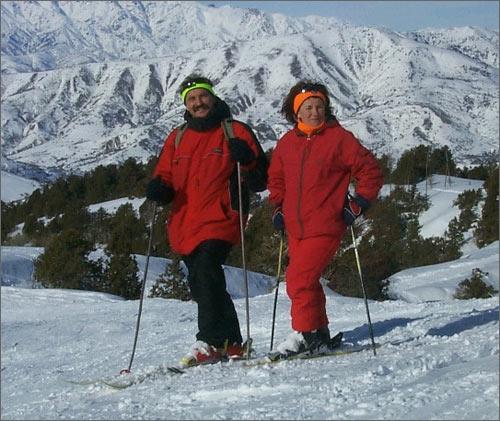 Супруги Тетерины ведут активный образ жизни. Катаются на горных лыжах…