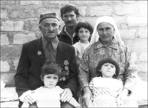 Turk family from Uzbekistan