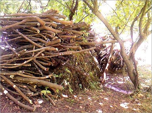 Постоянная заготовка дров – одна из основных забот жителей Бурчмуллы