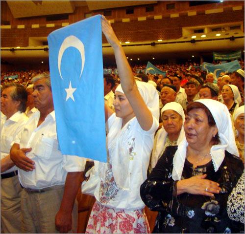 Митинг уйгуров Алматы