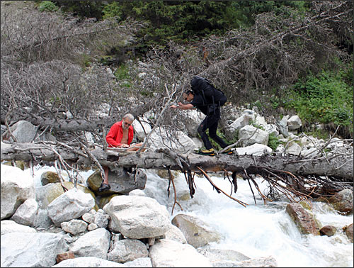 Переправа через реку Карасай