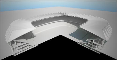 Будущий стадион – в разрезе