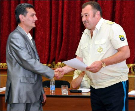 Николай Косарев и председатель общества таджикской культуры Сомон Ф.Мирзоев