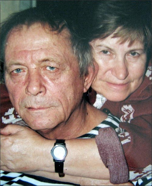 Photo from family album. 2008. Alexander Feinberg and his wife Inna Glebovna Koval