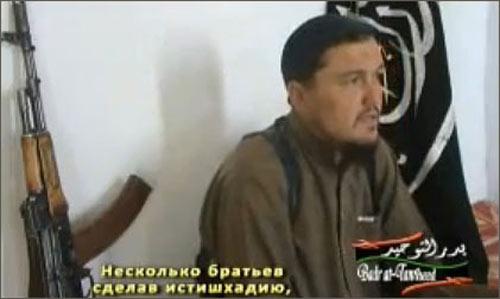 Кадр из видеообращения заместителя амира Союза Исламского Джихада
