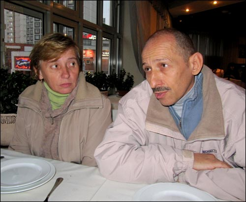 Andrei and Yevgenia Zatoka in Moscow, November 9, 2009