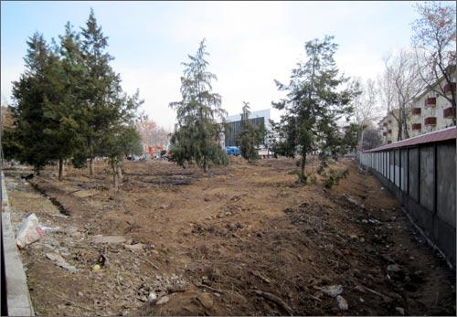 Реконструкция парка возле музея Вооруженных Сил Узбекистана