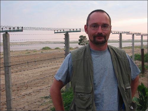 Игорь Ротарь на таджико-афганской границе